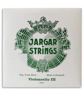 Foto da capa da embalagem da Corda Individual Jargar 3捉 Sol para Violoncelo de tamanho 4/4