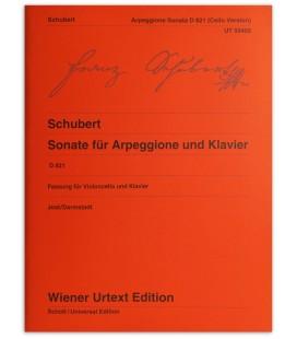 Foto da capa do livro Schubert Sonate fur Arppegione und Klavier
