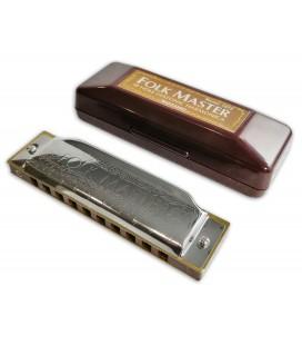 Photo of the harmonica Suzuki 1072C Folk Master in C with it's case