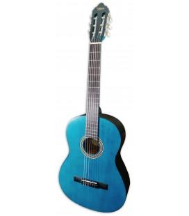 Photo of the classical guitar Valencia model VC204 TBU translucent blue