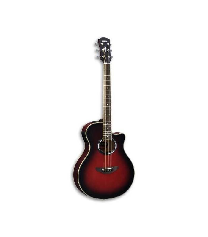 Guitarra Eletroacústica Yamaha APX500III DSR CTW Aço com Afinador Dusk Sun Red