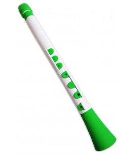 Foto do clarinete Nuvo N430 DWGN Dood em D坦 e em cor branco e verde