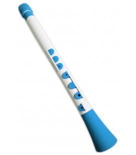 Foto do clarinete Nuvo modelo N430 DWBL Dood em cor branca e azul