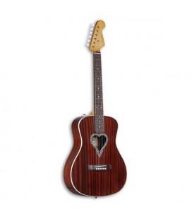 Guitarra Acústica Fender Alkaline Trio Malibu Caoba