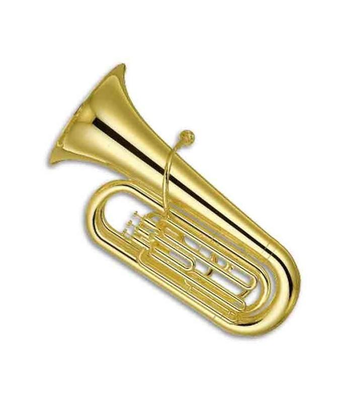 Tuba Yamaha YBB 105 Standard Dourada SIb 3 Pistons com Estojo