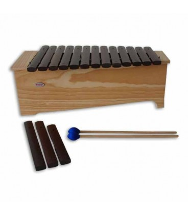 Photo of xylophone Honsuy 49120 with mallets and alternative blades