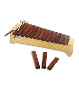 Xilófono Honsuy 49080 Soprano Diatónico Dó a Lá con mazas