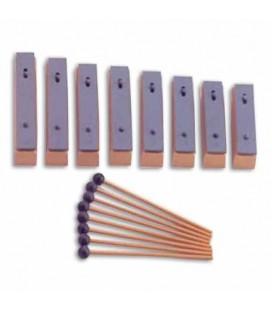 Metalofone Honsuy 49910 8 Lâminas Individuais Diatónico Dó a Dó