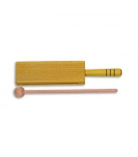 Caixa Chinesa Goldon 33312 18cm Madeira Amarela com Cabo