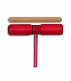 Goldon Two Tone Block Red Wood with Mallet 33124