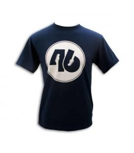 Fender T shirt Blue 46 Circle Size L
