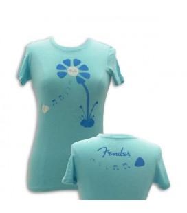 Fender T shirt Blue Pick Petal Lady Size XL