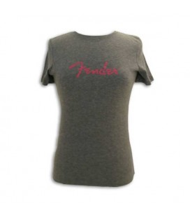 Fender T shirt Gray with Logo Lady Size L