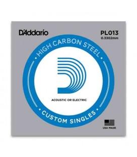 Corda Individual Daddário PL013 para Guitarra Elétrica ou Acústica Aço
