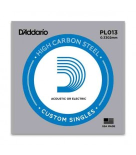 Cuerda Individual Daddário 013 para Guitarra Eléctrica o Acústica Acero