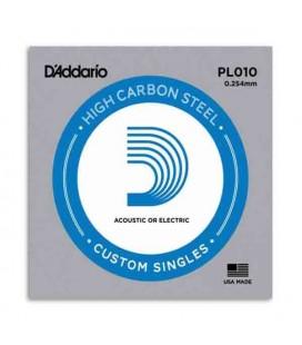 Corda Individual Daddário 010 para Guitarra Elétrica ou Acústica Aço