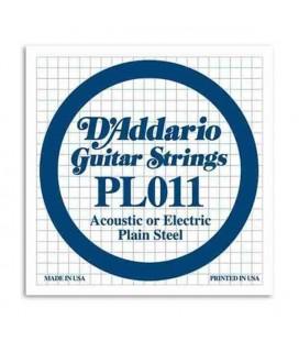 Corda Individual Daddário 011 para Guitarra Elétrica ou Acústica Aço