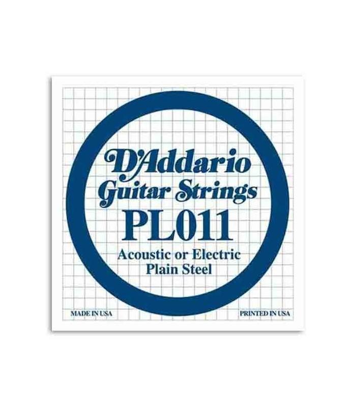 Cuerda Individual Daddário 011 para Guitarra Eléctrica o Acústica Acero