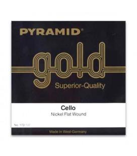 Pyramid Cello Strings Set Gold 173100 4/4