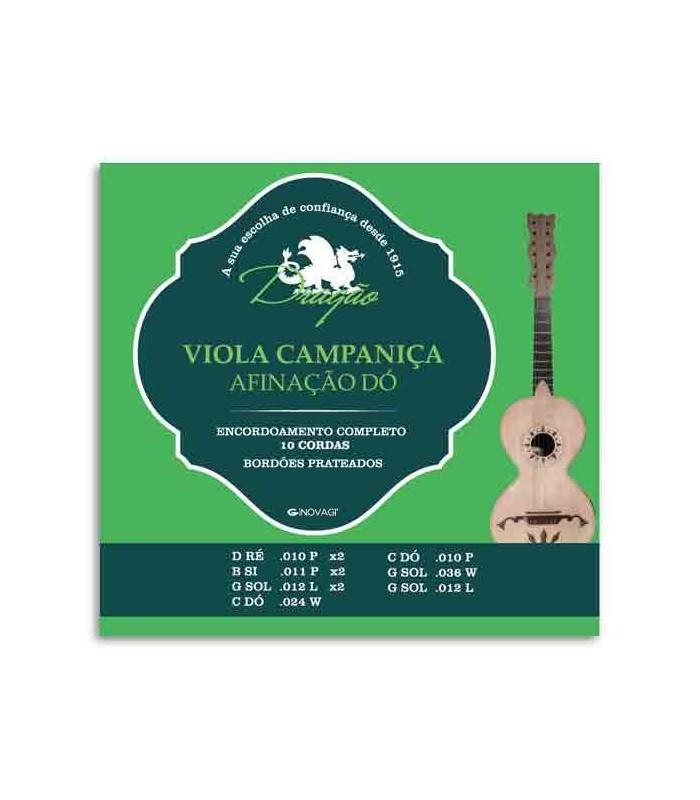 Jogo de Cordas Dragão 011 para Viola Campaniça Dó 10 Cordas