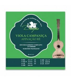 Jogo de Cordas Dragão 009 para Viola Campaniça Ré 10 Cordas