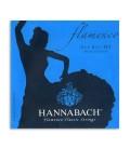 Jogo de Cordas Hannabach E827HT para Guitarra Flamenco Nylon Alta Tensão