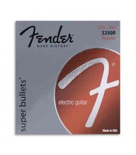 Jogo de Cordas Fender 3250R para Guitarra Elétrica Niqueladas 010