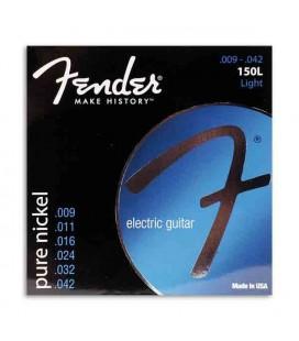 Jogo de Cordas Fender 150L para Guitarra Elétrica Pure Nickel 009