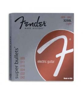 Jogo de Cordas Fender 3250L para Guitarra Elétrica Aço Niquelado