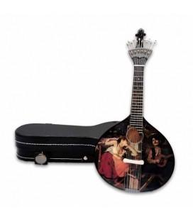 Miniatura CNM 519 Guitarra Portuguesa com Estojo Fado José Malhoa