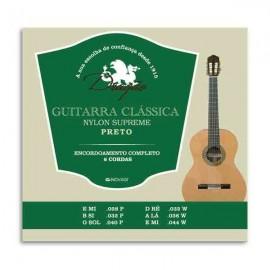Jogo de Cordas Dragão 027 para Guitarra Clássica Supreme Nylon Preto