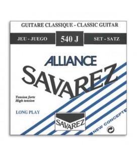 Jogo de Cordas Savarez 540 J para Guitarra Clássica Nylon Alta Tensão