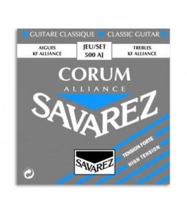 Jogo de Cordas Savarez 500 AJ para Guitarra Clássica Corum Alliance Alta Tensão