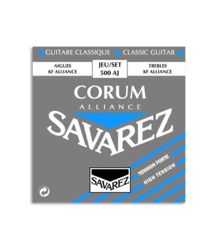 Juego de Cuerdas Savarez 500 AJ para Guitarra Cl叩sica Corum Alliance Alta Tensi坦n