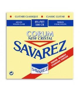 Jogo de Cordas Savarez 500 CR para Guitarra Clássica Corum New Cristal Md Tensão