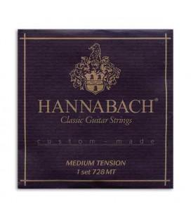 Juego de Cuerdas Hannabach E728MT Guitarra Clásica Nylon Média Tensión