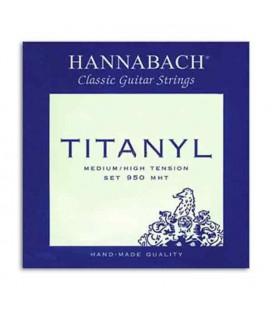 Juego de Cuerdas Hannabach Titanyl E950MHT para Guitarra Clásica Media Alta Tensión
