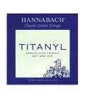 Juego de Cuerdas Hannabach Titanyl E950MHT para Guitarra Cl叩sica Media Alta Tensi坦n