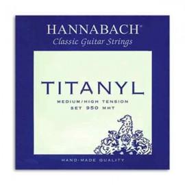 Jogo de Cordas Hannabach Titanyl E950MHT para Guitarra Clássica Média Alta Tensão