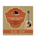 Juego de Cuerdas Dragão 021 para Guitarra Clásica Acero Superior Si Bordón Botón