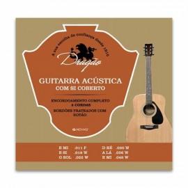 Jogo de Cordas Dragão 021 para Guitarra Clássica Aço Superior Si Bordão Botão