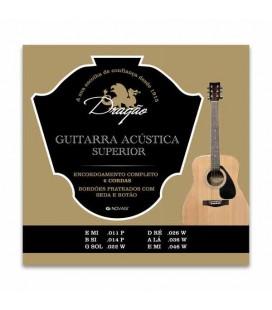Juego de Cuerdas Dragão 023 para Guitarra Acústica Superior Acero Seda Botón