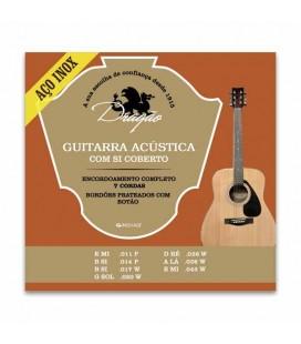 Jogo de Cordas Dragão 082 para Guitarra Acústica Aço Superior Si Bordão Botão 7 Inox