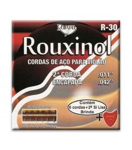 Juego de Cuerdas Rouxinol R30 con Extremo de Bola para Guitarra Clásica Si Cubierto