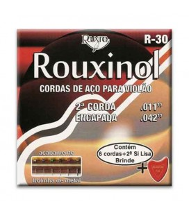 Rouxinol Classical Guitar String Set R30 with Ball End and Covered B String