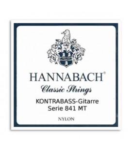 Jogo de Cordas Hannabach E841MT4S para Guitarra Baixo Acústica Nylon Média Tensão