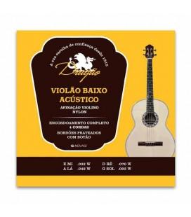 Jogo de Cordas Dragão 037 para Baixo Acústico Nylon Afinação Violino