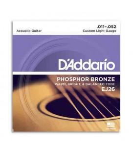 Juego de Cuerdas Daddário EJ26 011 para Guitarra Acústica Phosphor Bronze