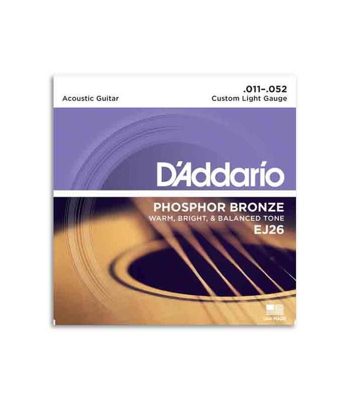 Jogo de Cordas DAddario EJ26 011 para Guitarra Acústica Phosphor Bronze
