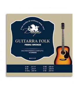 Juego de Cuerdas Dragão 045 para Guitarra Folk 6 Cuerdas 1200